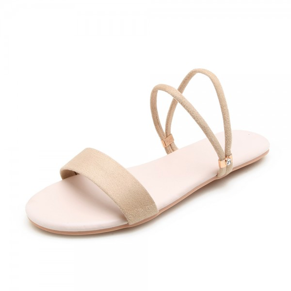 Comfort Simple Basic Ankle Strap Flat Sandals